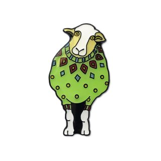 Woolly Sheep in Green Sweater - Emaille-Pin