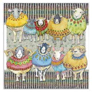 "Karte ""Woolly Sheep Big Family"""