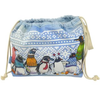 """Projekttasche """"Penguins in Pullovers"""""""