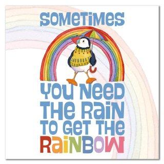 """Karte """"Rainbow puffin"""""""