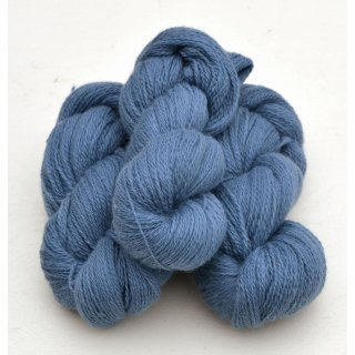 4141 Nordic Blue on white wool